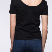 blaQ Back-to-front Top back