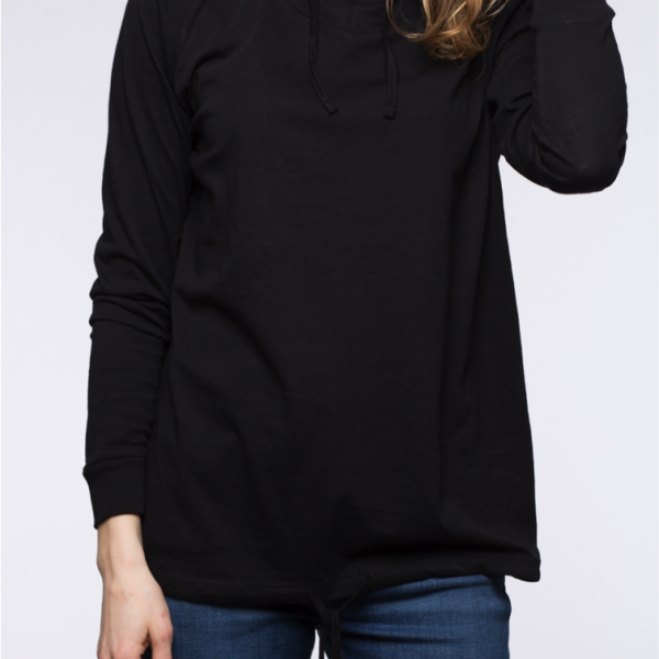 blaQ Light Hooded Top front